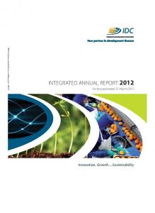 integrated annual report 2012 - Industrial Development Corporation