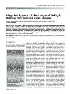 Integrated approach to teaching and testing in ... - Wiley Online Library