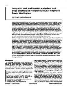 Integrated back and forward analysis of rock slope stability and ...