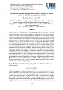 Integrated bees algorithm and artificial neural network to propose an ...