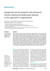 Integrated care for patients with advanced chronic obstructive