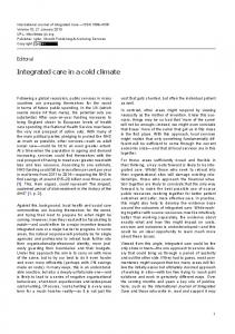 Integrated care in a cold climate - International Journal of Integrated ...