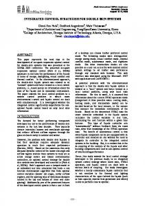INTEGRATED CONTROL STRATEGIES FOR DOUBLE SKIN SYSTEMS