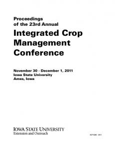 Integrated Crop Management Conference