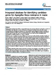 Integrated database for identifying candidate genes ... - BioMedSearch
