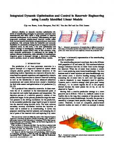 Integrated Dynamic Optimization and Control in Reservoir ...