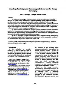 Integrated Electromagnetic Generator for Energy Scavenging