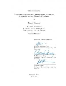 Integrated Electromagnetic Wireless Power ... - Rice Scholarship Home