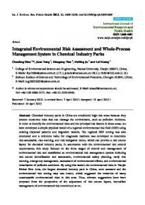 Integrated Environmental Risk Assessment and Whole ... - MDPI