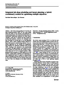 Integrated job shop scheduling and layout planning: a ... - Springer Link