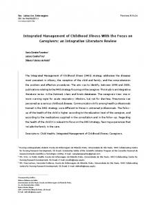 Integrated Management of Childhood Illness With the Focus ... - scielo.br