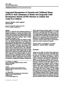 Integrated Management of Neonatal and Childhood Illness (IMNCI ...