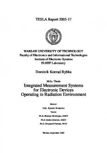 Integrated Measurement Systems for Electronic Devices Operating in ...