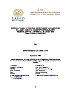 integrated municipal solid waste management - LUMES