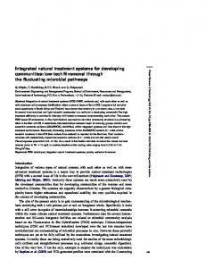 Integrated natural treatment systems for developing communities: low ...