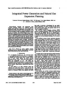 Integrated Power Generation and Natural Gas ... - IEEE Xplore