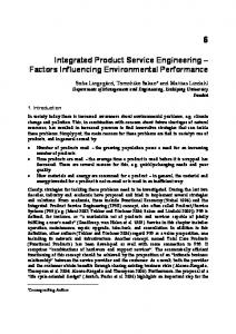 Integrated Product Service Engineering - Factors Influencing ... - DiVA