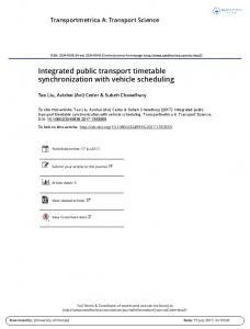 Integrated public transport timetable synchronization