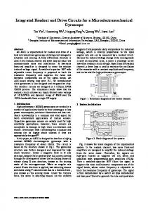 Integrated Readout and Drive Circuits for a ... - IEEE Xplore