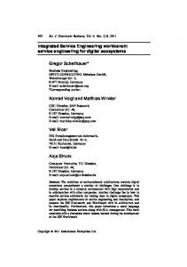 Integrated Service Engineering workbench: service engineering for ...