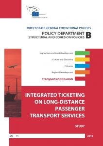 integrated ticketing on long-distance passenger transport services