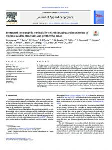 Integrated tomographic methods for seismic imaging ...