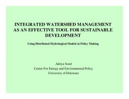 what is integrated watershed management
