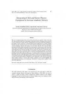 Integrating CALL and Genre Theory: A proposal to increase ... - RUA