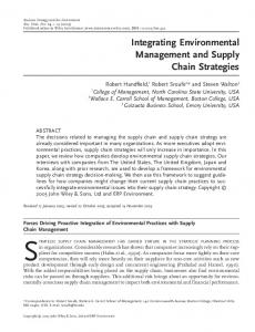 Integrating environmental management and ... - Wiley Online Library