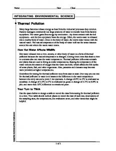Integrating Environmental Science: Thermal Pollution