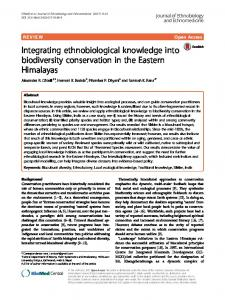 Integrating ethnobiological knowledge into biodiversity conservation in ...