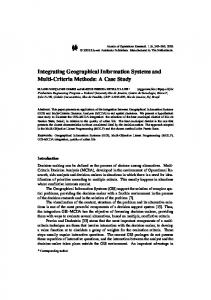 Integrating Geographical Information Systems and ... - Springer Link