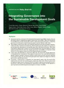 Integrating Governance into the Sustainable ... - UNU Collections