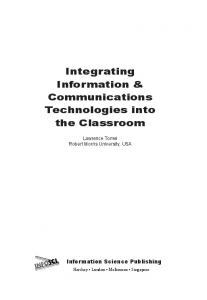 Integrating Information & Communications Technologies into the ...