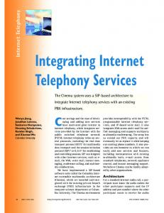 Integrating internet telephony services - CiteSeerX