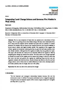 Integrating Land Change Science and Savanna Fire Models in ... - MDPI