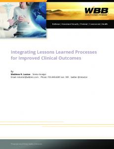 Integrating Lessons Learned Processes for Improved ... - MaxQDA