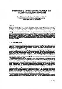 integrating mobile communication technologies in a ...