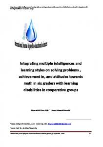 Integrating multiple intelligences and learning styles on solving - Eric