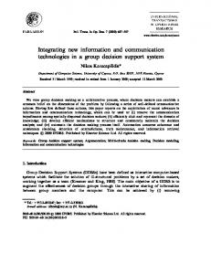 Integrating new information and communication ... - CiteSeerX