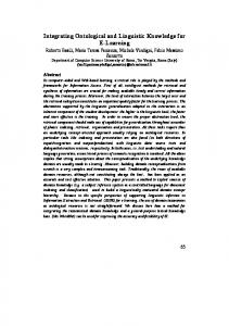 Integrating Ontological and Linguistic Knowledge ... - Semantic Scholar