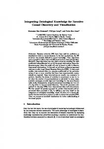 Integrating Ontological Knowledge for Iterative Causal ... - Larodec