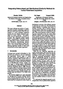 Integrating Pattern-Based and Distributional Similarity Methods for