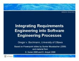 Integrating Requirements Engineering into Software Engineering ...