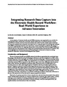 Integrating Research Data Capture into the Electronic Health Record ...