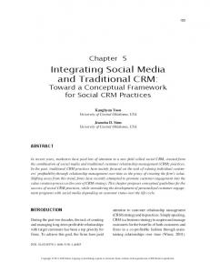 Integrating Social Media and Traditional CRM