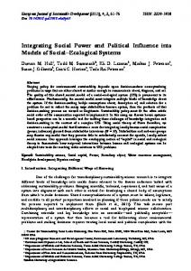 Integrating Social Power and Political Influence into Models of Social ...