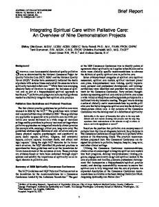 Integrating Spiritual Care within Palliative Care: An