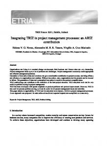 Integrating TRIZ in project management processes ...