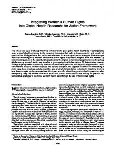 Integrating Women's Human Rights into Global Health Research: An ...
